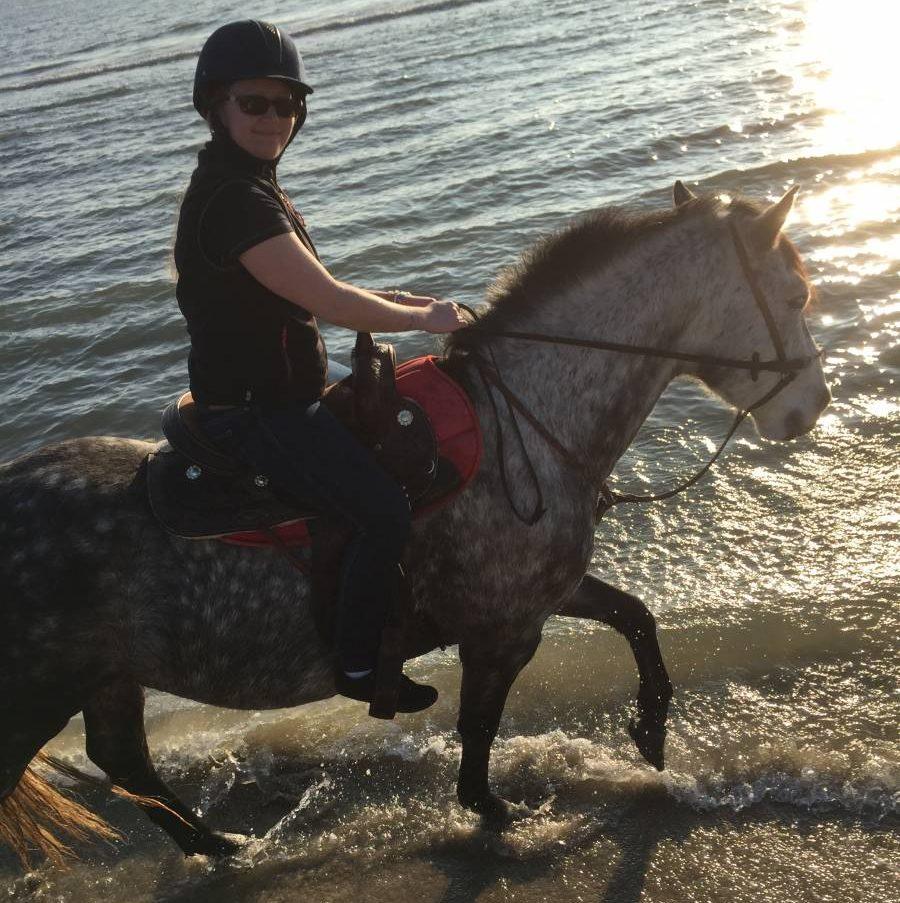 Balade à cheval bord de mer Grau du Roi
